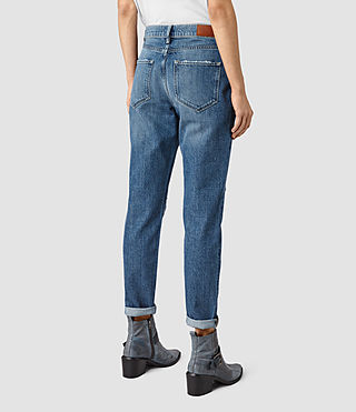 Women's Amy Girlfriend Jeans (MID BLUE) - product_image_alt_text_3