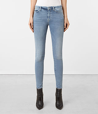 Women's Grace Distressed Jeans (Pale Blue)