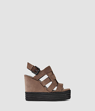 Womens Marzee Wedge Sandal (Chocolate)