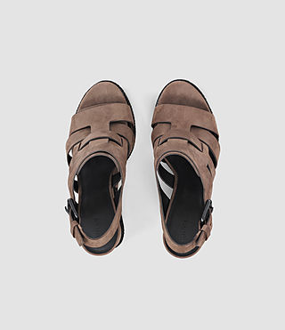 Mujer Marzee Wedge Sandal (Chocolate) - product_image_alt_text_4