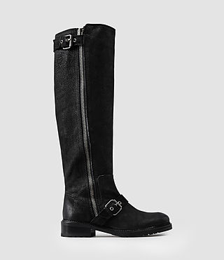 Womens Knee Kawai Boot (Black)