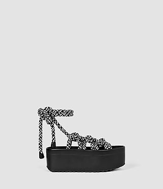 Femmes Knit Sandal (Black/White)