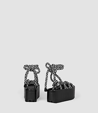 Mujer Knit Sandal (Black/White) - product_image_alt_text_3