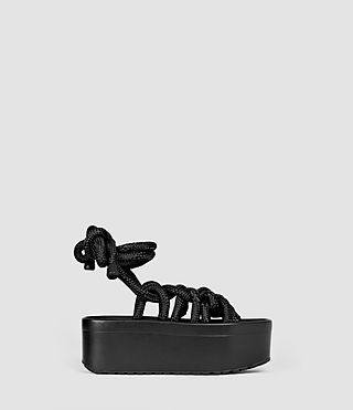 Femmes Knit Sandal (BLACK ROPE)