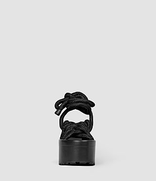 Womens Knit Sandal (BLACK ROPE) - product_image_alt_text_2