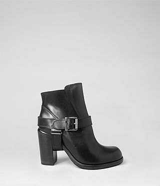 Womens Jules Heeled Biker Boot (Black) - product_image_alt_text_1