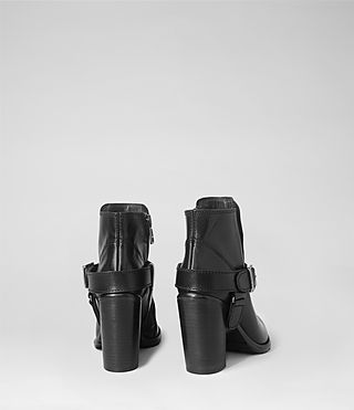 Womens Jules Heeled Biker Boot (Black) - product_image_alt_text_3