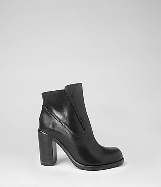 Womens Jules Heeled Biker Boot (Black) - product_image_alt_text_4