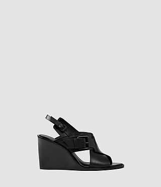 Donne Elin Wedge Sandal (Black)