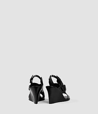 Damen Elin Wedge Sandal (Black) - product_image_alt_text_3