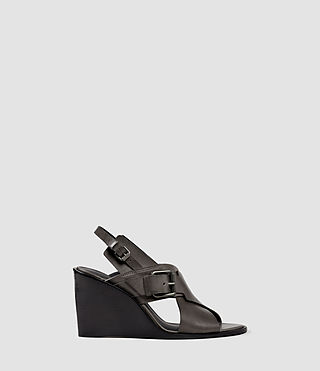 Donne Elin Wedge Sandal (Dark Grey)
