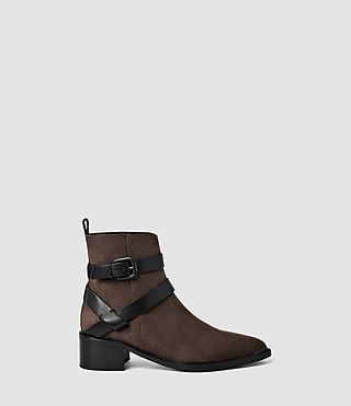 Women's Newton Cross Strap Boot (Cognac)