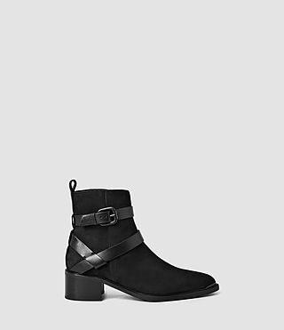 Womens Newton Cross Strap Boot (Black)
