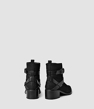 Womens Newton Cross Strap Boot (Black) - product_image_alt_text_3
