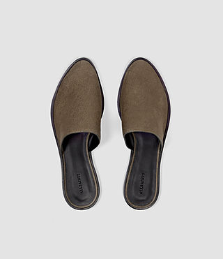 Womens Rick Slip On Sandal (Dark Khaki) - product_image_alt_text_4