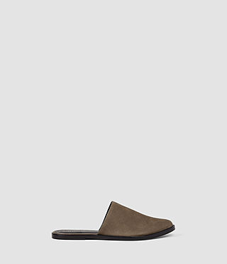 Womens Rick Slip On Sandal (Dark Khaki Green) - product_image_alt_text_1