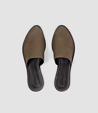 Femmes Rick Slip On Sandal (Dark Khaki Green) - product_image_alt_text_4