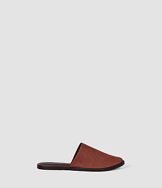 Womens Rick Slip On Sandal (BRICK BROWN)