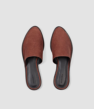 Mujer Rick Slip On Sandal (BRICK BROWN) - product_image_alt_text_4