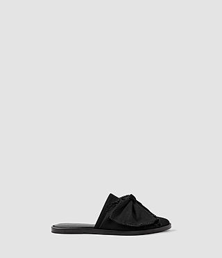 Womens Rumour Slip On Shoe (Washed Black)