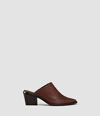 Womens Jade Slip On Shoe (BRICK BROWN)