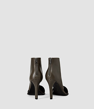 Womens Theo Heels (Dark Khaki Green) - product_image_alt_text_3