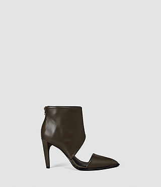 Donne Theo Heel (Dark Khaki Green)
