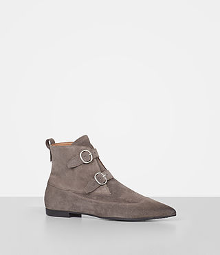 Women's Viv Suede Boot (WOOD BROWN) - product_image_alt_text_2