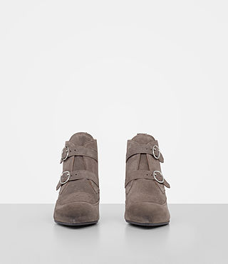 Women's Viv Suede Boot (WOOD BROWN) - product_image_alt_text_4