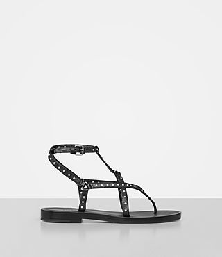 Womens Flora Sandal (Black)