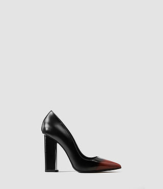 Womens Cubista Pump (Black/Red)