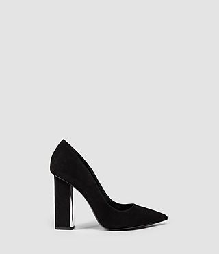 Womens Cubista Pump (Suede Black)