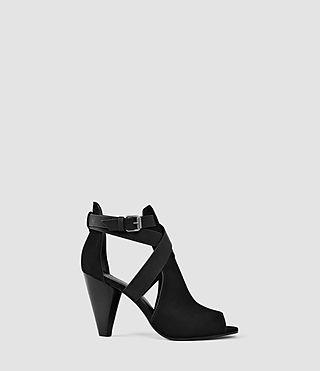 Womens Benny Heel Sandal (Black)