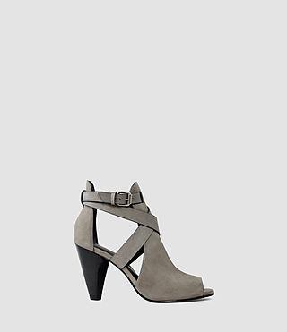 Damen Benny Heel Sandal (Dark Grey)