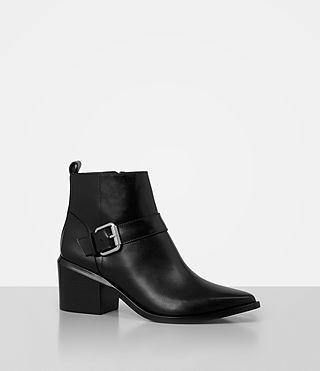 Women's Jason Heel Boot (SHINY BLACK) - product_image_alt_text_3