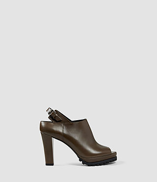 Womens Hathaway Heel (Dark Khaki Green)