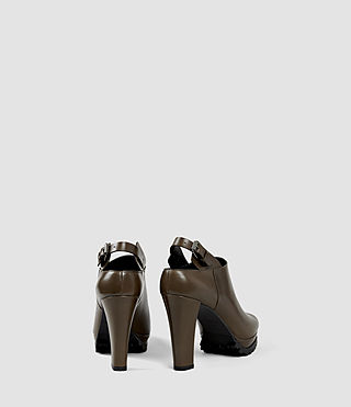 Womens Hathaway Heel (Dark Khaki Green) - product_image_alt_text_3