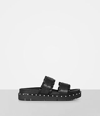 Womens Alanna Embellished Slide Sandal (Black) - product_image_alt_text_1