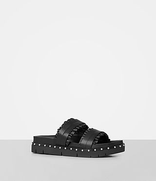 Womens Alanna Embellished Slide Sandal (Black) - Image 2