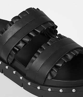 Womens Alanna Embellished Slide Sandal (Black) - Image 3
