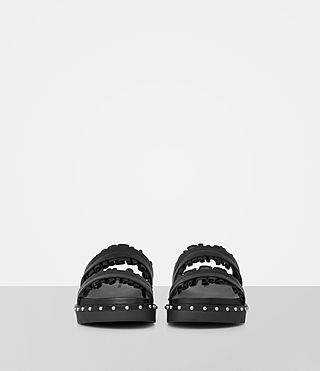 Womens Alanna Embellished Slide Sandal (Black) - product_image_alt_text_4