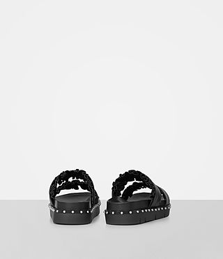 Womens Alanna Embellished Slide Sandal (Black) - Image 5