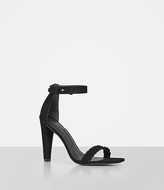 Donne Effie Suede Sandal (Black)