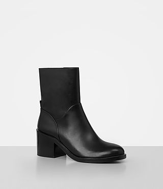 Womens Macarthur Chain Boot (Black) - product_image_alt_text_3