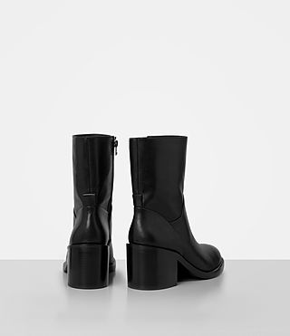 Womens Macarthur Chain Boot (Black) - product_image_alt_text_5