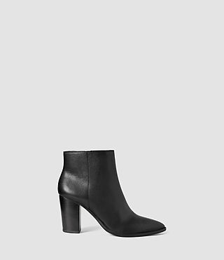 Womens Iris Heel Boot (Black)