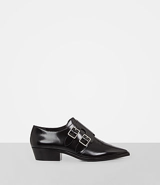 Womens Silva Monk Shoe (Black)