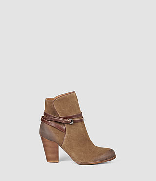 Damen Victoria Heel Boot (Tobacco Gold)