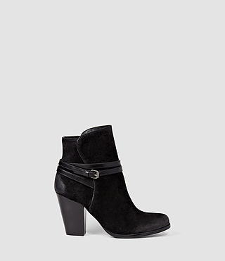 Donne Victoria Heel Boot (Black)