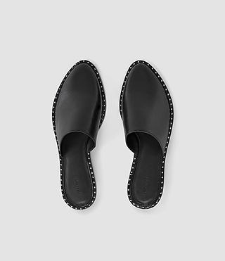 Women's Rick Slip On Sandal (Black) - product_image_alt_text_4